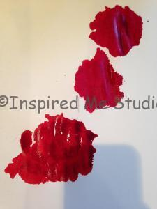 After it's pressed.  Not as pretty. A true inkblot now.