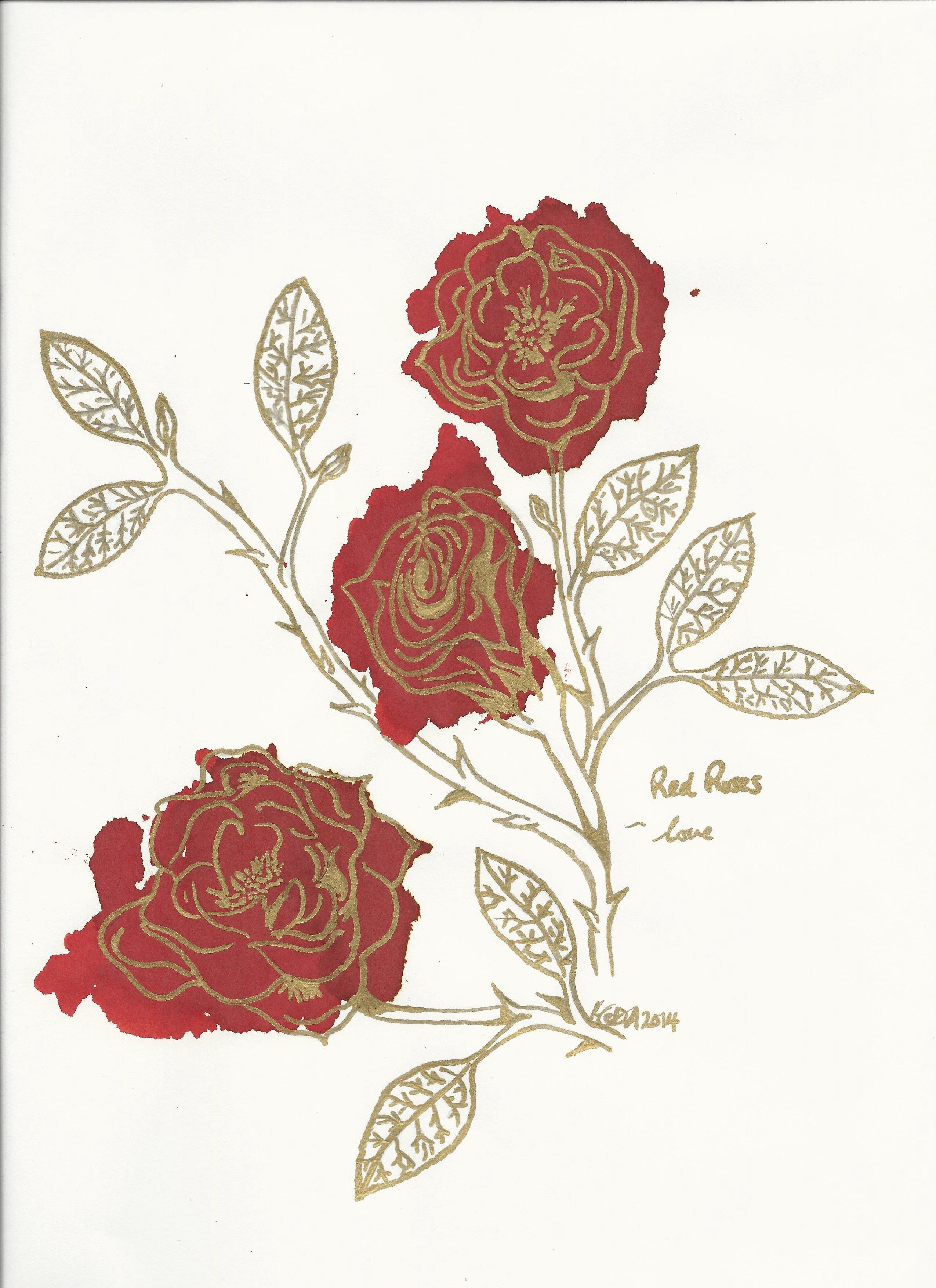 Bunch of red roses stand for love.
