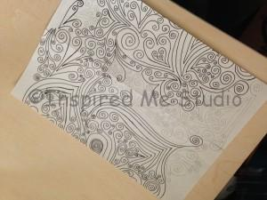 creating a swirls seamless repeat pattern using the paper method.