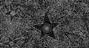 Starry sky monochrome textile pattern.